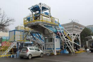 jauns PROMAX Mobile Concrete Batching Plant M100-TWN (100m3/h) betona rūpnīca