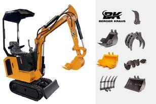 jauns BERGER KRAUS Mini Excavator BK800BS torsion arm with FULL equipment mini ekskavators