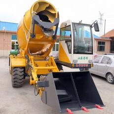 jauns LUZUN selfloading concrete mixer riteņu ekskavators